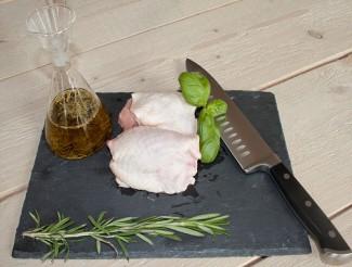 Viande haut de cuisses avec peau